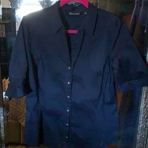 Navy blouse.